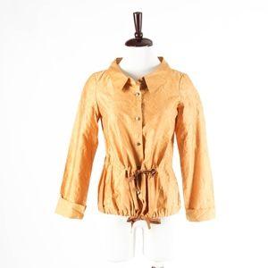 W WORTH – Gold Cotton Taffeta Shirt Blouse – XS